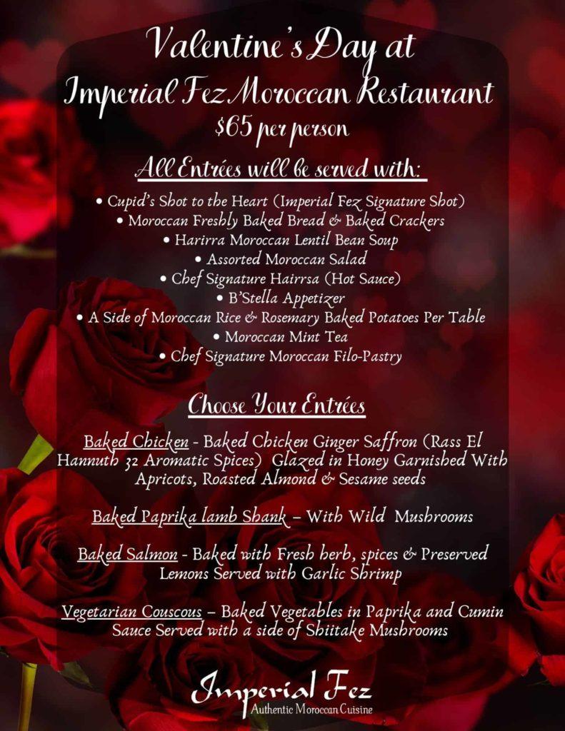 Valentines Dinner at imperial fez atlanta
